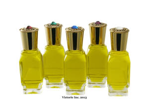 Anointing Oil in Jeweled Bottles