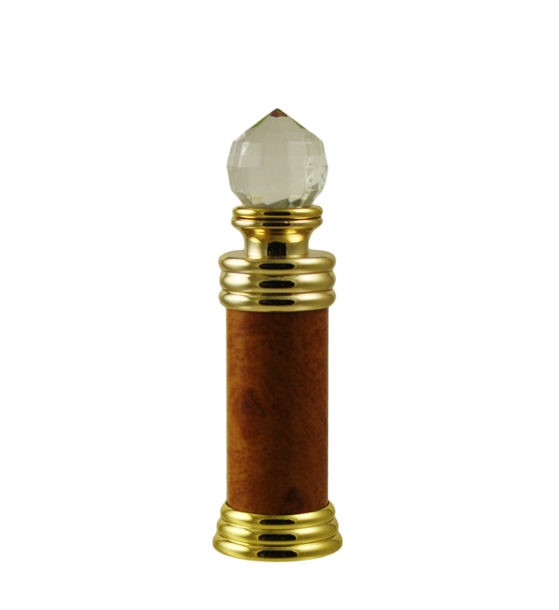 Small Fancy Glass Bottles Gold Lids Perfume Anointing Oil